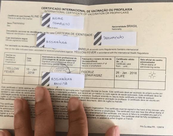Certificado de Vacinação - Aberto